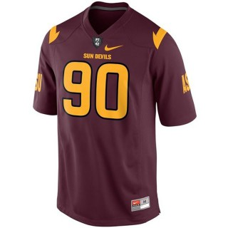 Arizona State Sun Devils #90 Will Sutton Red Football Youth Jersey