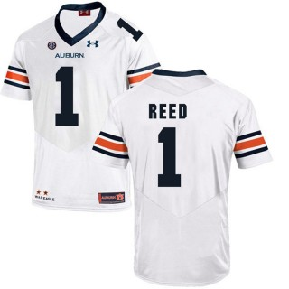 Auburn Tigers #1 White Trovon Reed College Football Jersey