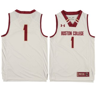 Boston College Eagles #1 White Basketball Youth Jersey