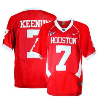 Houston Cougars #7 case Keenum Red Football Youth Jersey