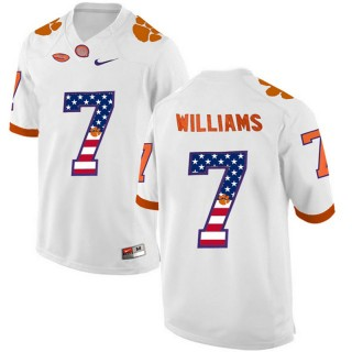 2017 US Flag Fashion Male Clemson Tigers Mike Williams White College Football Limited Jersey