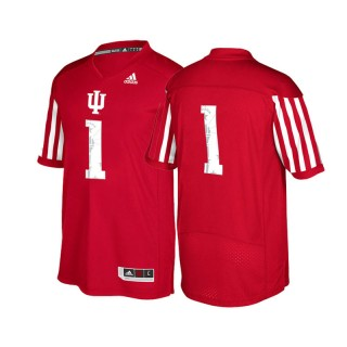 #1 Male Indiana Hoosiers Crimson New Season Special Game Football Jersey