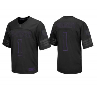 Kansas State Wildcats #1 Male Black College Colosseum Blackout Football Jersey
