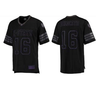 Kansas State Wildcats #16 Male Black College Colosseum Blackout Football Jersey