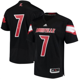 #7 Male Louisville Cardinals Black NCAA 2017 Special Games Football Jersey