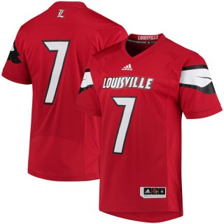 #7 Male Louisville Cardinals Red NCAA 2017 Special Games Football Jersey