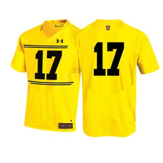 #17 Male Maryland Terrapins Gold Team 125th Anniversary Football Jersey
