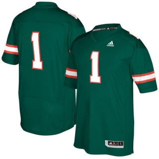 #1 Male Miami Hurricanes Green NCAA 2017 Special Games Football Jersey