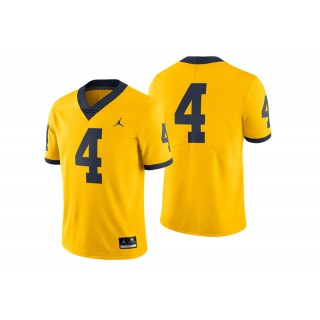 #4 Male Michigan Wolverines Maize College Football Game Performance Jersey