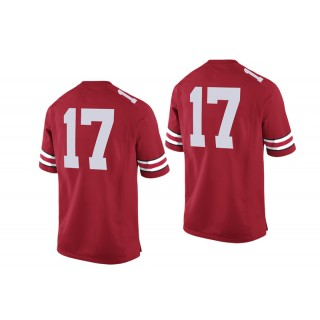 #17 Male Ohio State Buckeyes Scarlet College Football Game Performance Jersey