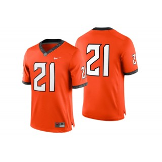 #21 Male Oklahoma State Cowboys Orange College Football Game Performance Jersey