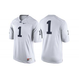 #1 Male Penn State Nittany Lions White College Football Game Performance Jersey