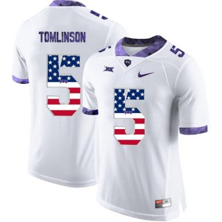 2017 US Flag Fashion Male TCU Horned Frogs LaDainian Tomlinson White College Football Limited Jersey