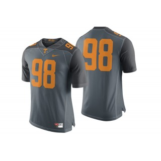 #98 Male Tennessee Volunteers Gray College Football Game Performance Jersey