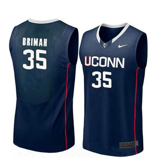Male Amida Brimah UConn Huskies Navy NCAA Basketball Player Name And Number Jersey