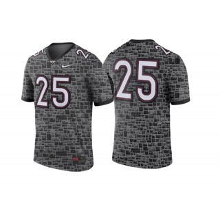 #25 Male Virginia Tech Hokies Anthracite College Football Game Performance Jersey