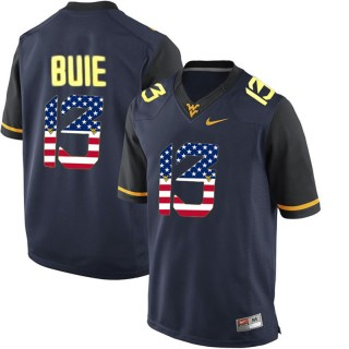 2017 US Flag Fashion Male West Virginia Mountaineers Andrew Buie Navy Blue College Football Limited Jersey