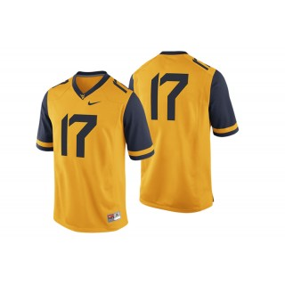 #17 Male West Virginia Mountaineers Gold College Football Game Performance Jersey