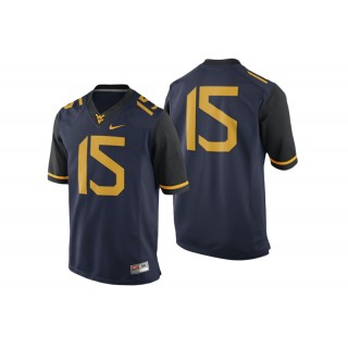 #15 Male West Virginia Mountaineers Navy College Football Game Performance Jersey