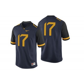 #17 Male West Virginia Mountaineers Navy College Football Game Performance Jersey