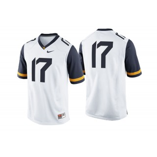 #17 Male West Virginia Mountaineers White College Football Game Performance Jersey