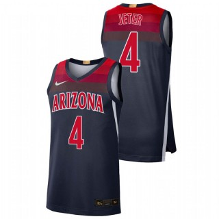 Arizona Wildcats Chase Jeter Jersey College Baketball Navy Limited Men's