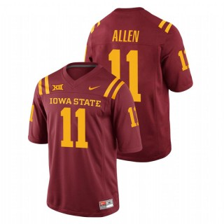 Chase Allen Iowa State Cyclones College Football Cardinal Replica Jersey