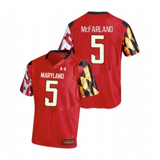 Anthony McFarland Men's Maryland Terrapins Red College Football Replica Jersey