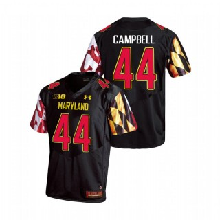 Chance Campbell Maryland Terrapins Replica Black College Football Jersey