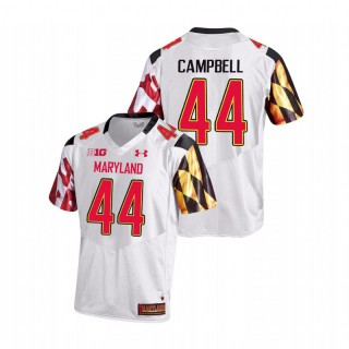 Chance Campbell Maryland Terrapins College Football White Game Jersey