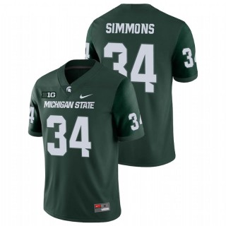 Antjuan Simmons Michigan State Spartans College Football Green Game Jersey