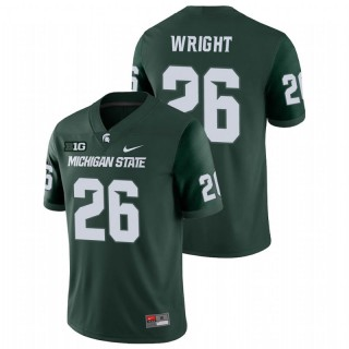 Brandon Wright Michigan State Spartans College Football Green Game Jersey