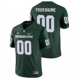 Custom Michigan State Spartans College Football Green Game Jersey