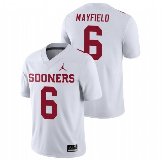 Oklahoma Sooners Game Baker Mayfield Football Jersey White Men's