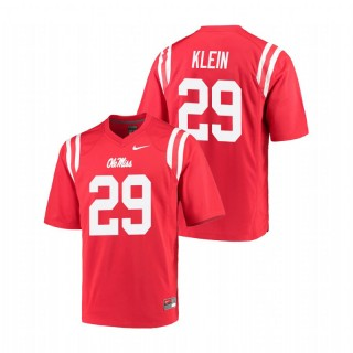 Campbell Klein Ole Miss Rebels College Football Red Game Jersey