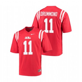 Dontario Drummond Ole Miss Rebels College Football Red Game Jersey