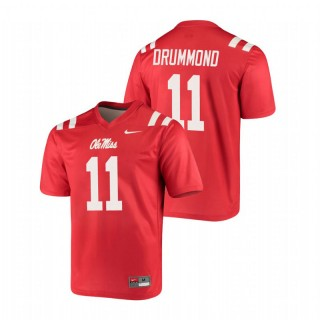 Dontario Drummond Ole Miss Rebels Legend Red Football Jersey