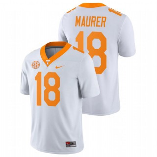 Brian Maurer Tennessee Volunteers Game White College Football Jersey
