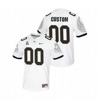 Custom UCF Knights College Football White Untouchable Game Jersey