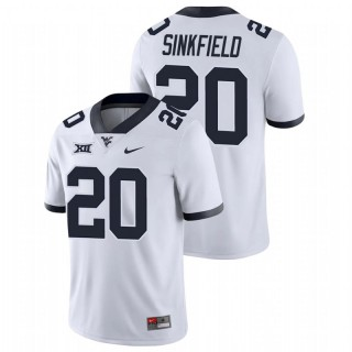 Alec Sinkfield West Virginia Mountaineers Game White College Football Jersey