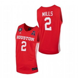 Houston Cougars Caleb Mills 2021 March Madness Final Four Home Jersey Scarlet Men