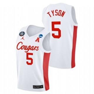Houston Cougars Cameron Tyson 2021 March Madness Final Four Classic Jersey White Men