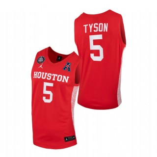 Houston Cougars Cameron Tyson 2021 March Madness Final Four Home Jersey Scarlet Men