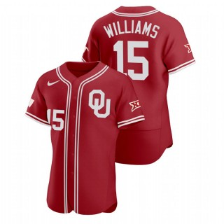Alondes Williams Oklahoma Sooners Vapor Prime Red College Baseball Jersey