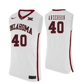 Oklahoma Sooners #40 Richard Anderson White College Basketball Jersey