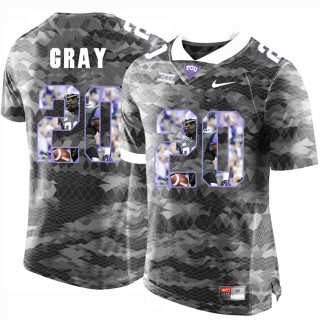 Deante Gray TCU Horned Frogs Grey NFL Player High-School Pride Pictorial Jersey