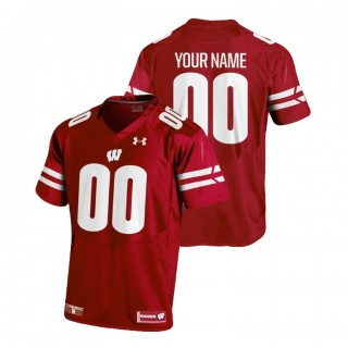 Custom Youth Wisconsin Badgers Red College Football 2018 Replica Jersey